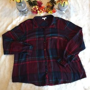 Maurice's Button Down Plaid Flannel Size 3XL